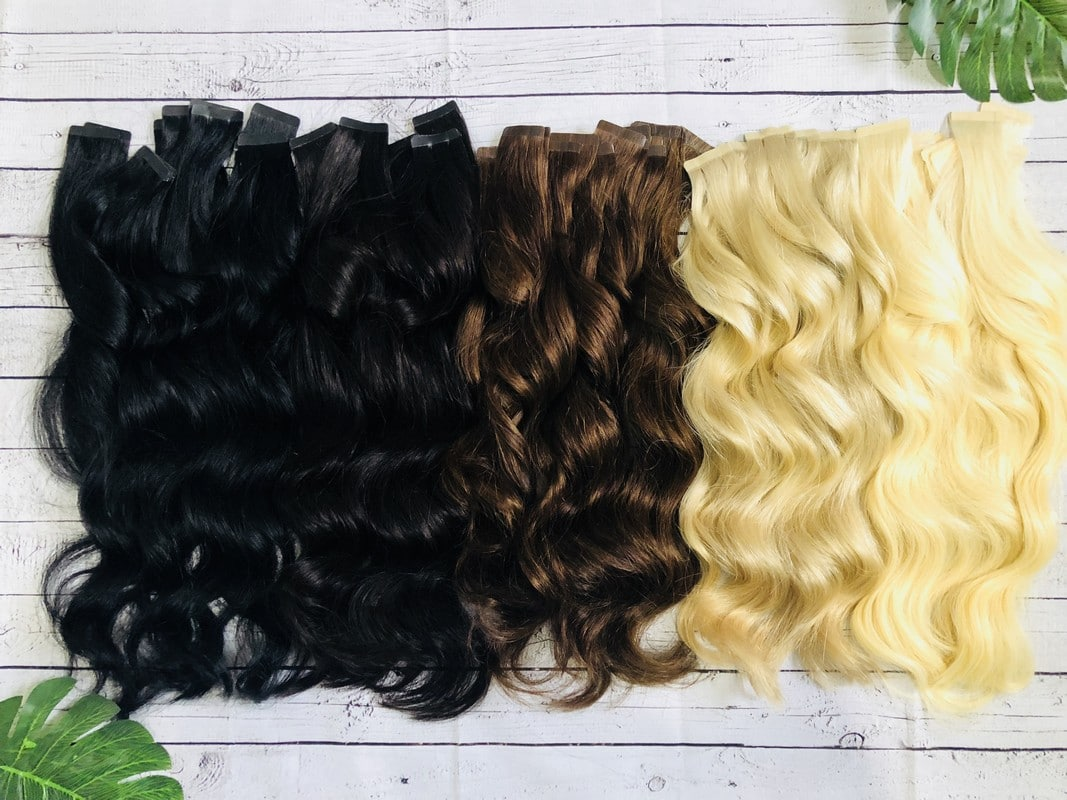 24 Inch Tape Extensions Russian Remy Double Drawn Henshall Hair